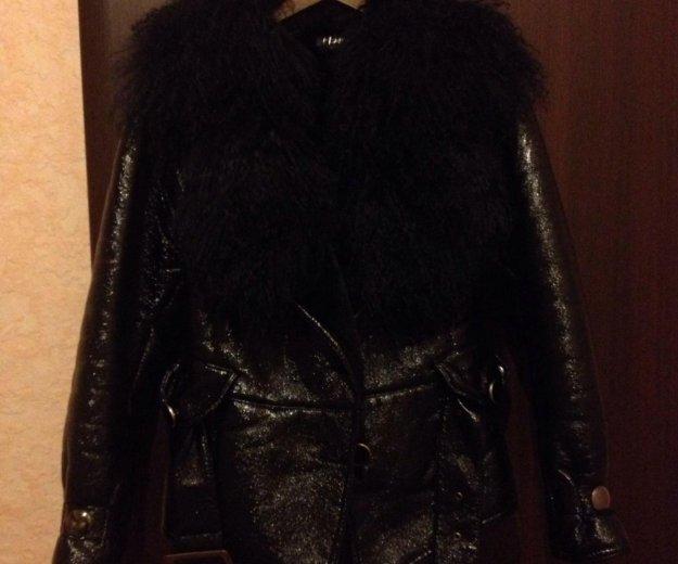 Куртка р. s/m (эко-кожа) (внутри мех) торг, пишите. Фото 1.