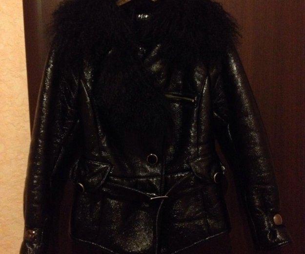Куртка р. s/m (эко-кожа) (внутри мех) торг, пишите. Фото 2.