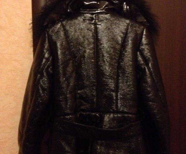 Куртка р. s/m (эко-кожа) (внутри мех) торг, пишите. Фото 3.