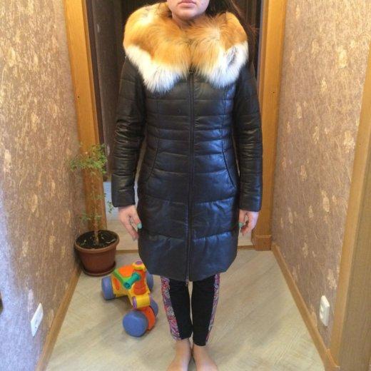 Зимний кожаный пуховик. Фото 1. Хабаровск.