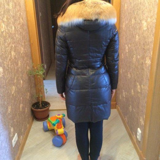 Зимний кожаный пуховик. Фото 2. Хабаровск.