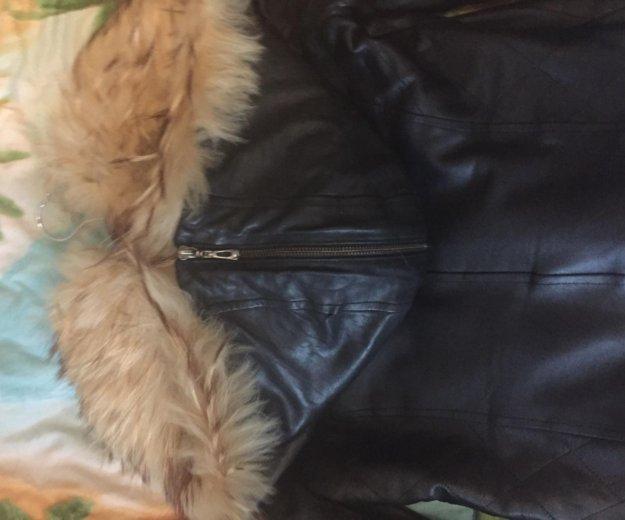 Кожаная куртка с мехом. Фото 1. Кемерово.