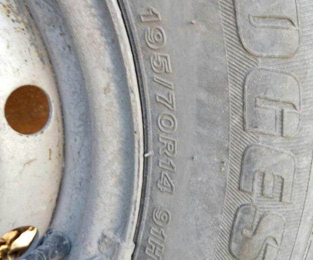 Летняя резина на дисках r14. Фото 3. Бердск.