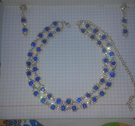 Ожерелье и серьги. Фото 1. Улан-Удэ.