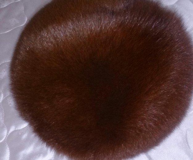 Шапка из меха песца, новосибирская, очень теплая. Фото 1.