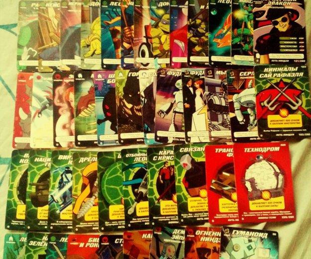 """Коллекционные карточки """"черепашки ниндзя"""". Фото 1. Омск."""