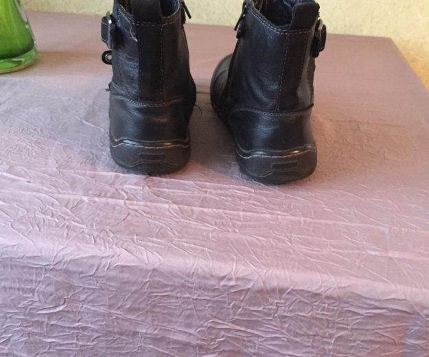 Ботинки демисезонные из натуральной кожи. Фото 3. Челябинск.