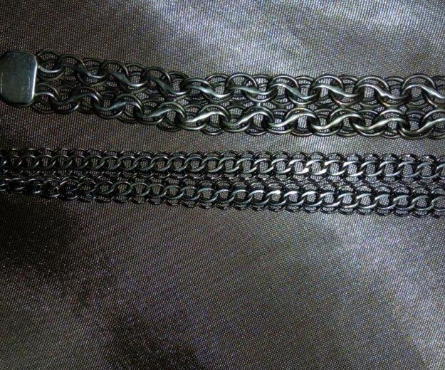 Продам серебряный мужской браслет и цепь. Фото 1. Железнодорожный.