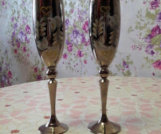 Свадебные фужеры. Фото 4. Ульяновск.