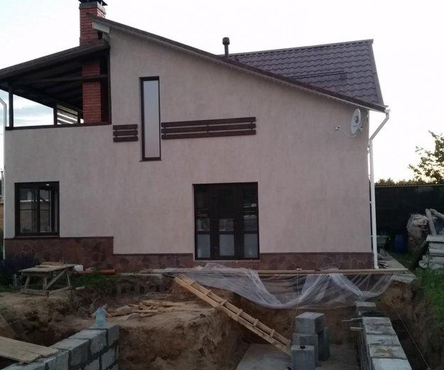 Строим дома из теплых блоков псфб. Фото 1.