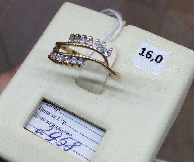 Кольцо фианит золото 585. Фото 2. Красноярск.