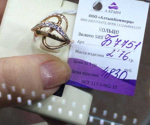 Кольцо золото 585 фианиты. Фото 4. Красноярск.