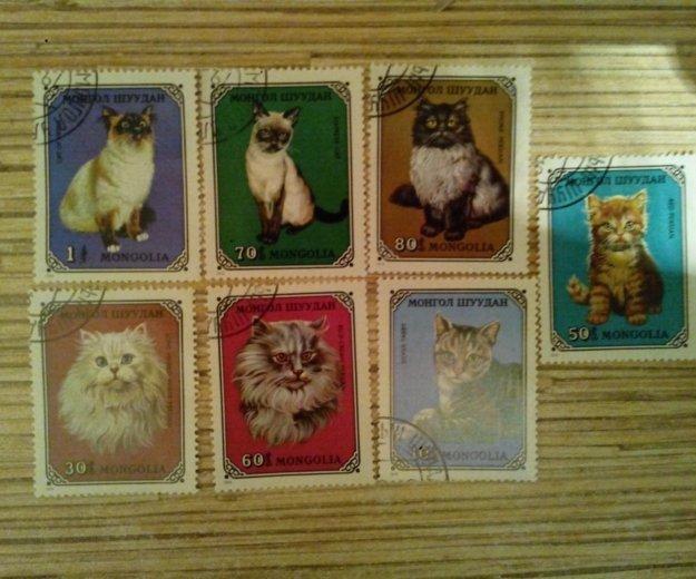 Марки монголии 1979г, кошки. Фото 1. Владивосток.