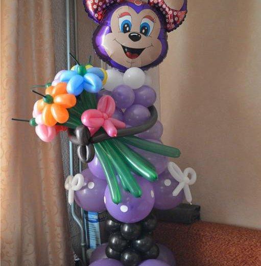 Мики маус из воздушных шаров. Фото 1. Омск.