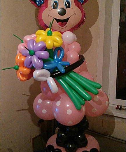 Мики маус из воздушных шаров. Фото 4. Омск.