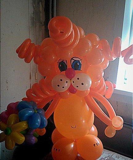 Львенок из воздушных шаров. Фото 4. Омск.
