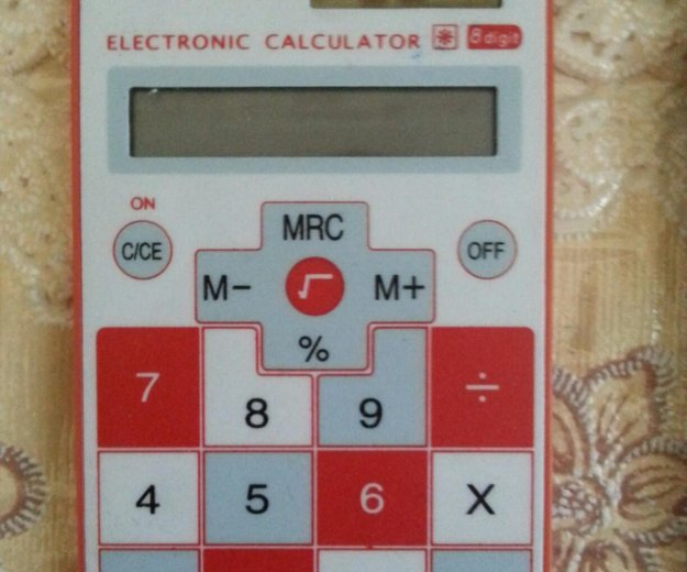 Сенсорный калькулятор + чехол. Фото 1. Москва.