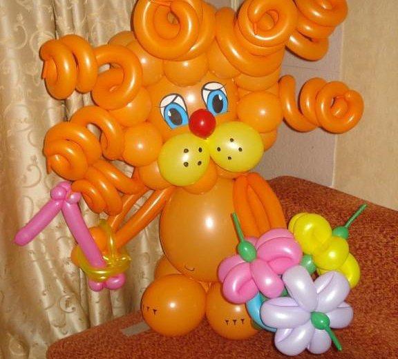 Фигурки из воздушных шаров. Фото 1. Омск.