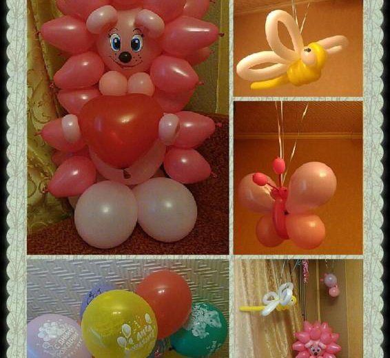 Ежик из воздушных шаров. Фото 3. Омск.