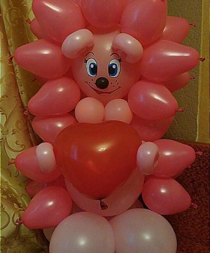 Ежик из воздушных шаров. Фото 4. Омск.