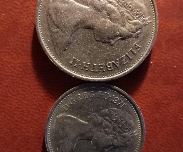 Монеты британии. Фото 1.