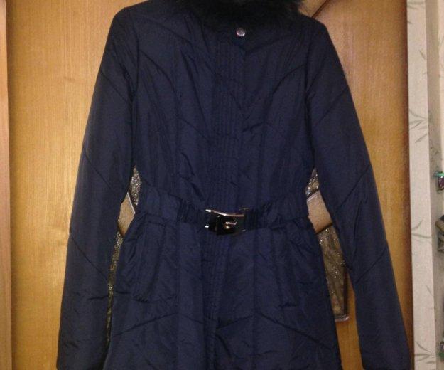 Пальто демисезонное темно синее. Фото 3. Электросталь.