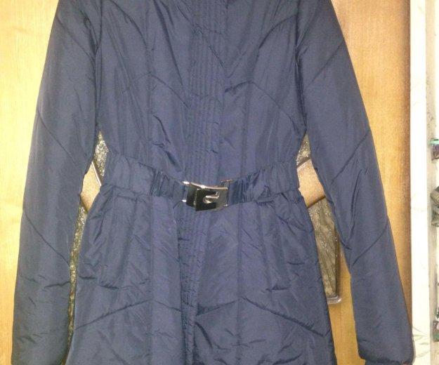 Пальто демисезонное темно синее. Фото 4. Электросталь.