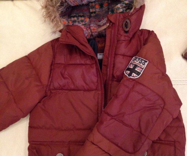 Тёплая куртка next на мальчика р. 110. Фото 1.