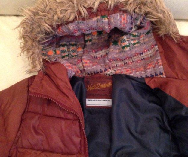 Тёплая куртка next на мальчика р. 110. Фото 2.