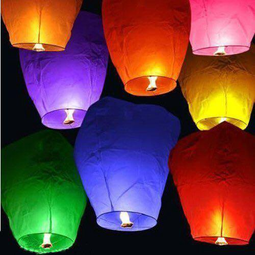 Небесные фонарики. Фото 1.