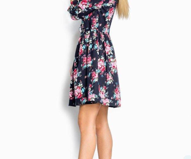 Принтованное джинсовое платье. Фото 2. Саратов.