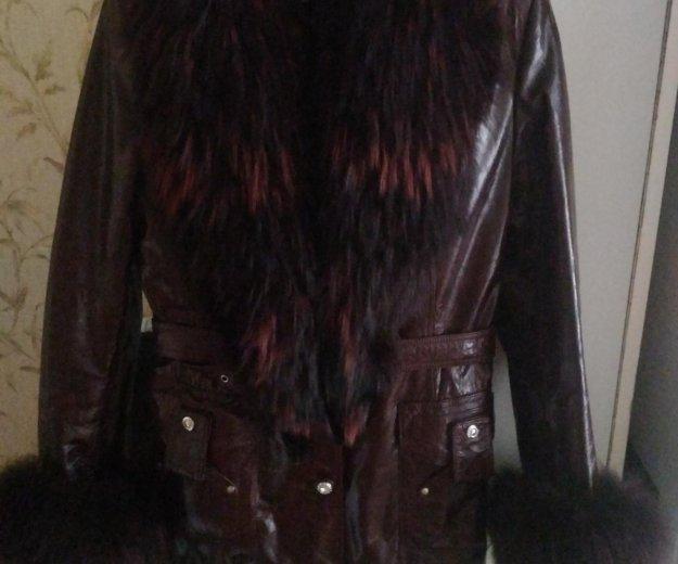 Куртка зима натуральная кожа лак. Фото 1. Москва.
