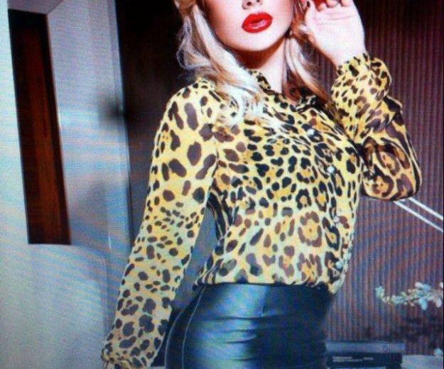 Стильная леопардовая рубашка. Фото 1. Иркутск.