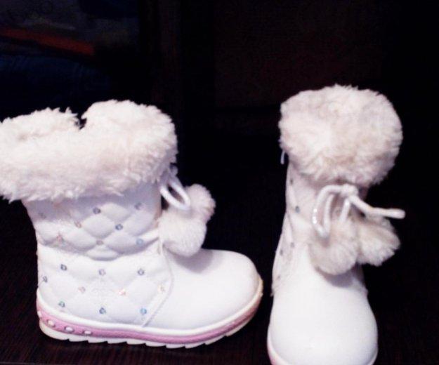 Кожаные сапожки зимние 24-25р. Фото 1. Челябинск.