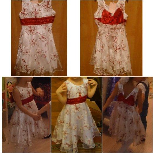 Нарядное белое платье с красным бантом. Фото 1. Санкт-Петербург.