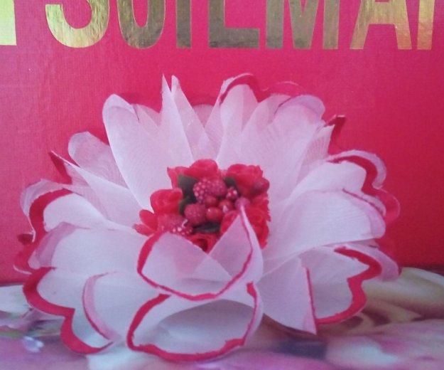 Ризинка цветок + заколка простая. Фото 1.