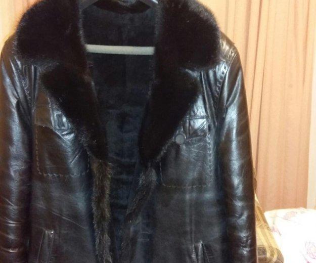 Куртка кожанная мужская зимняя. Фото 3. Красноярск.