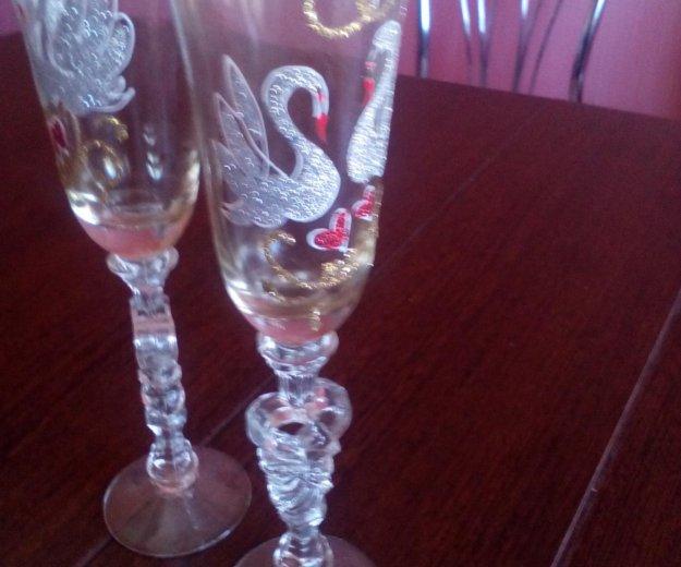 Свадебные бокалы. Фото 1. Бердск.