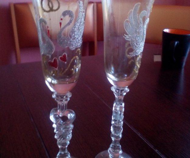 Свадебные бокалы. Фото 2. Бердск.