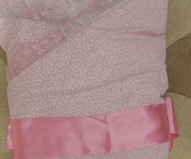 Конверт -одеяло на выписку для девочки. Фото 1.
