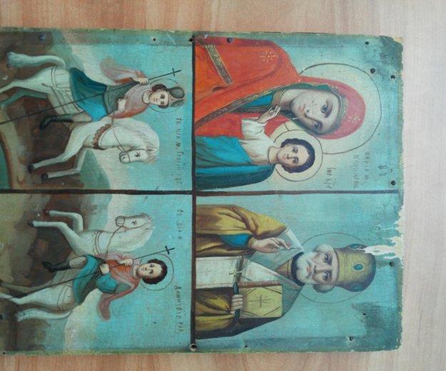 Икона 19 век казанская , николай, георгий, дмитрий. Фото 1. Москва.