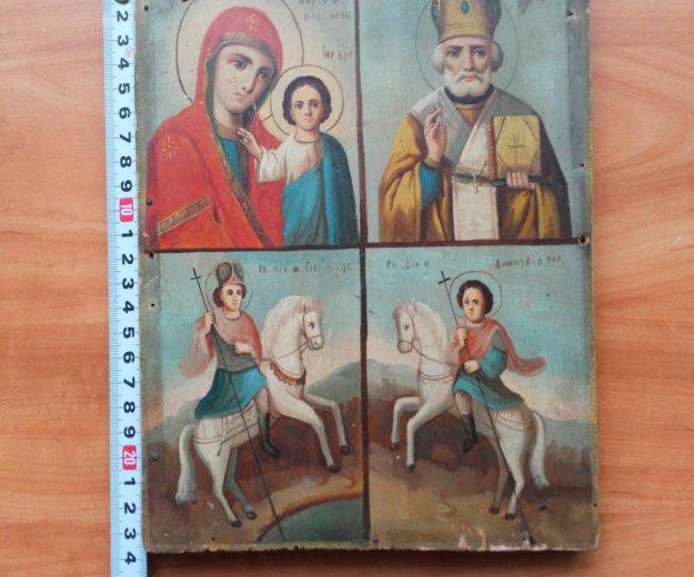 Икона 19 век казанская , николай, георгий, дмитрий. Фото 2. Москва.