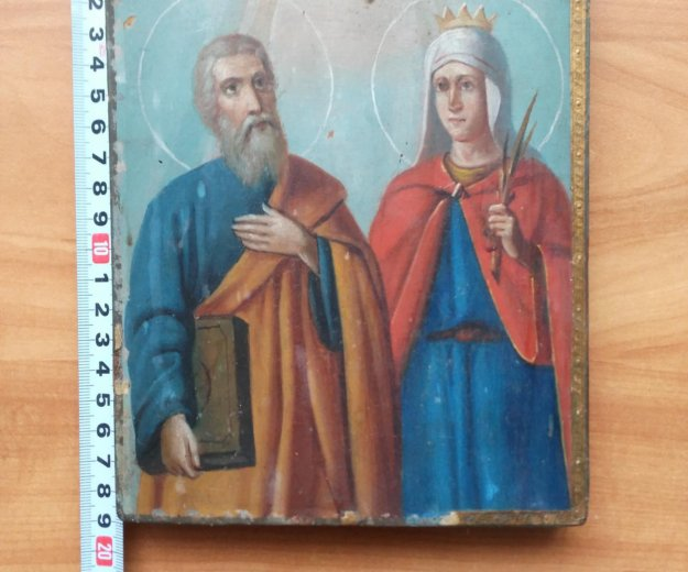 Икона 19 век андрей первозванный и варвара . Фото 2. Москва.