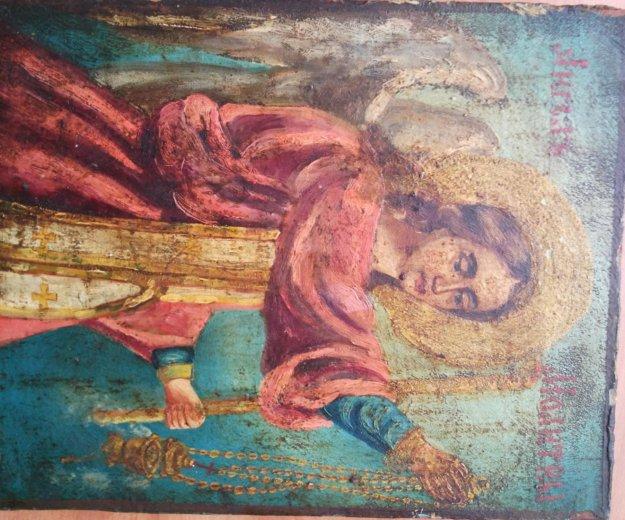Икона 19 век ангел молитвы редкий сюжет. Фото 1. Москва.