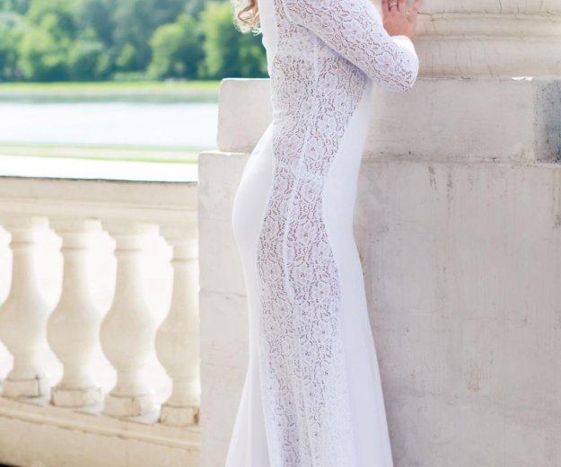 Платье в пол(белого цвета). Фото 1. Мытищи.