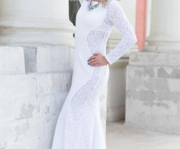 Платье в пол(белого цвета). Фото 2. Мытищи.