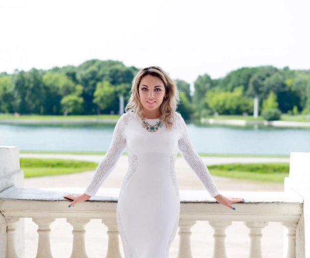 Платье в пол(белого цвета). Фото 3. Мытищи.