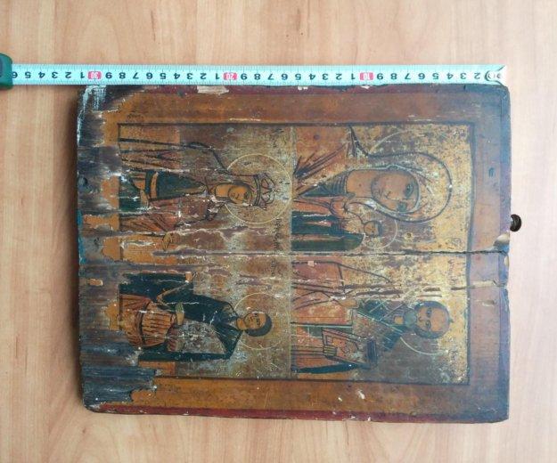 Икона 19 век 4 х частник. Фото 2. Москва.