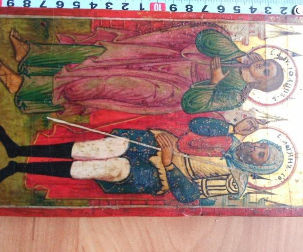 Икона 18-19 век иоанн и логин. Фото 1. Москва.