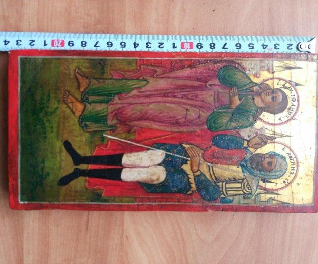 Икона 18-19 век иоанн и логин. Фото 2. Москва.